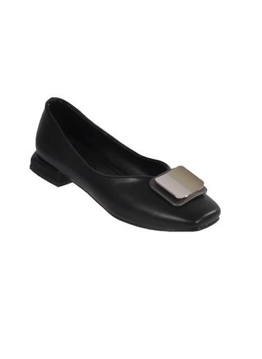 Mhd 123 Platin Kadın Günlük Ayakkabı Siyah